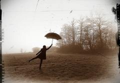 Paraply i vinden