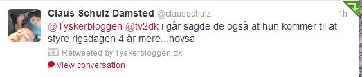 Rigsdagen Tweet Tyskerbloggen