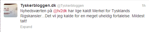 Rigskansler Tweet Tyskerbloggen